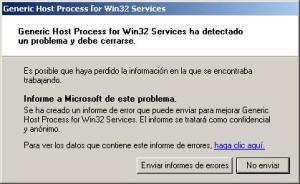 message generic host process for win32